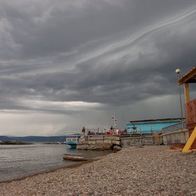 Cloud stratification, Baikal Lake shore