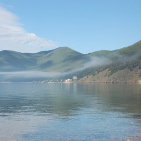 Baikal Lake breeze and fog