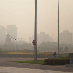 A view of Beijing's polluted sky
