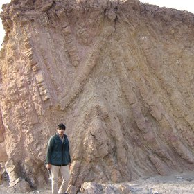 Chevron Folds,North of Zahedan (Iran)