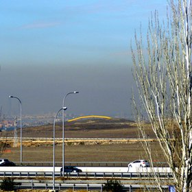 Pollution over Madrid
