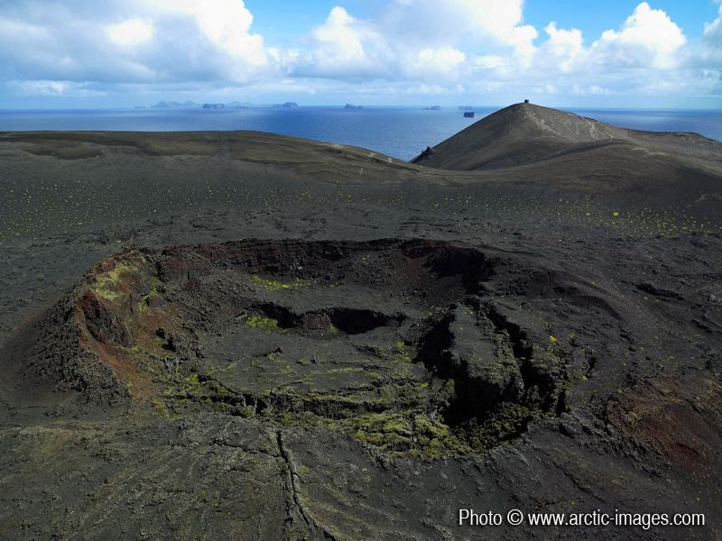 Volcanic Crater on Surtsey Island, Iceland