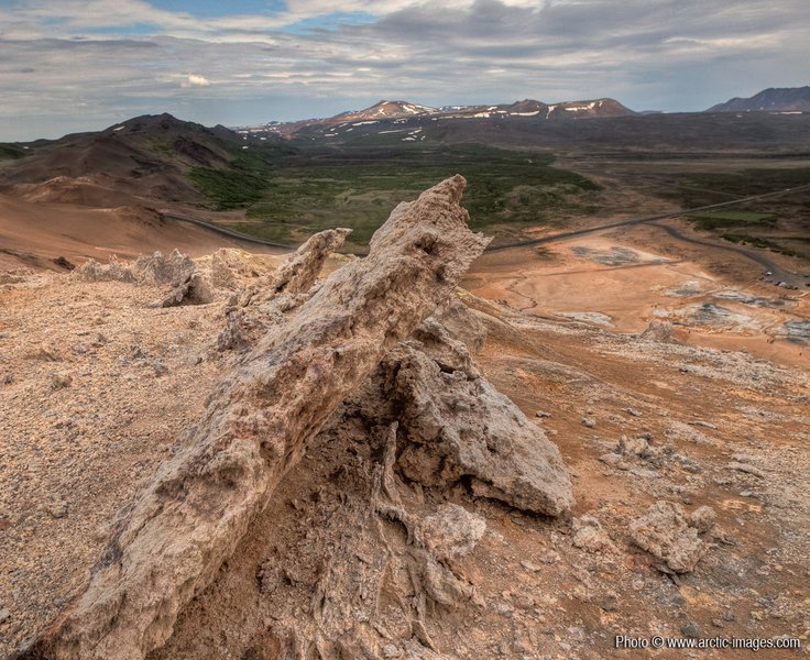 Rock formations, Geothermal Hot spring area, Namaskard, Northern Iceland