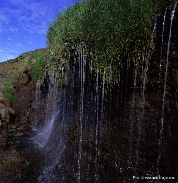 Mountain Fresh Water Creek, Central Highlands, Iceland