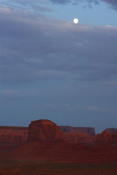 Moonrise over Monument Valley, Arizona