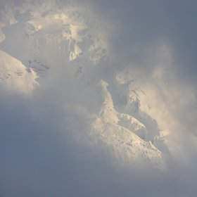 Flank of Jungfrau with snow