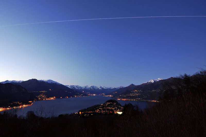 The ISS over Bellagio