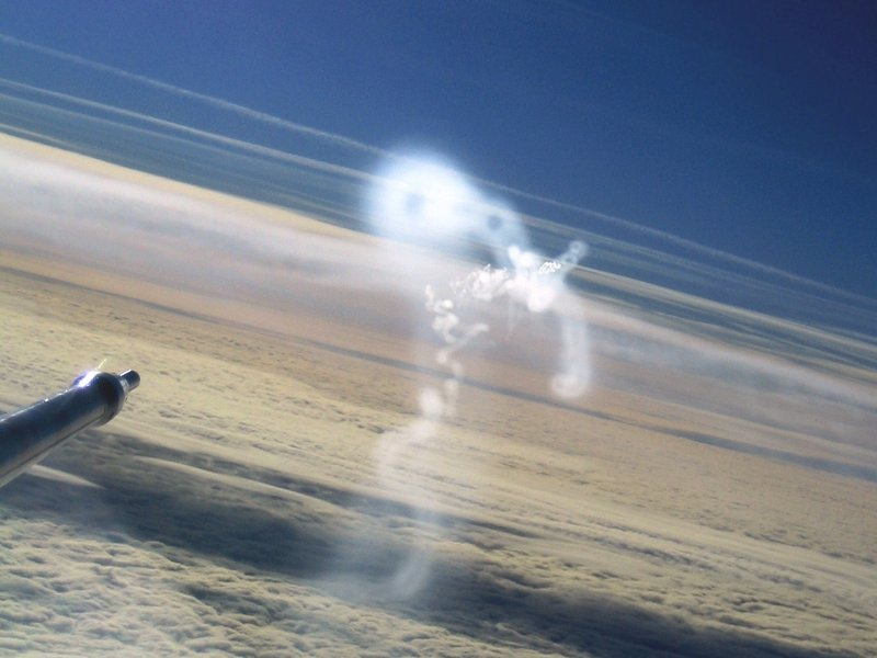 Contrail rings detected with the research aircraft Falcon