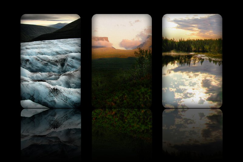 Pristine beauty of arctic Sweden: glaciers, mountains and lakes