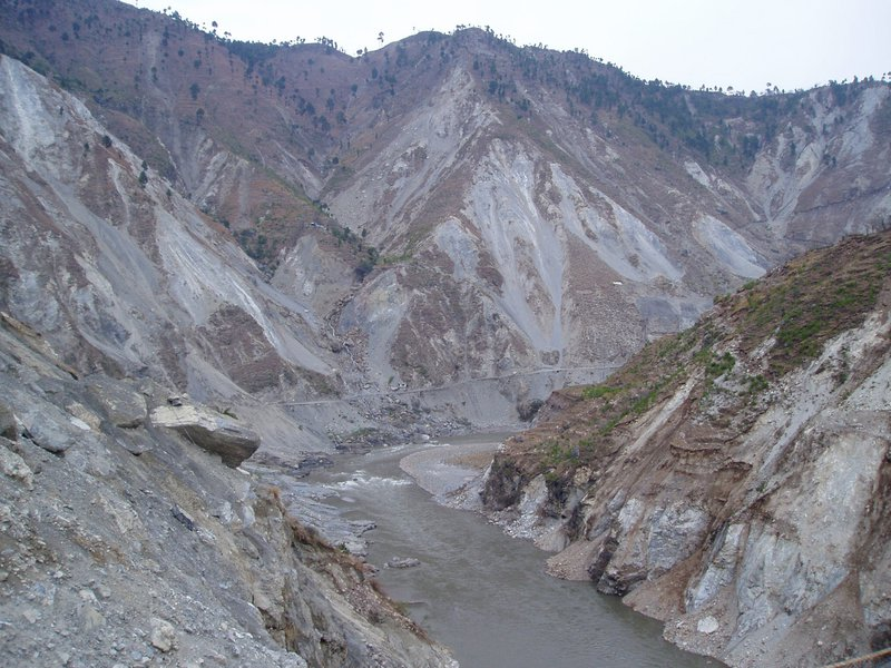 Road up the Neelum Valley after the 2005 Earthquake