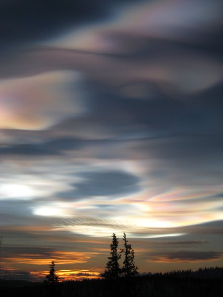 Mother of Pearl Cloud above Esrange, Sweden
