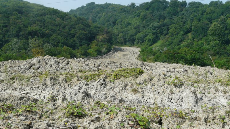 Chirlesti mud flow1, Buzau County