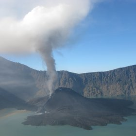 Rinjani eruption