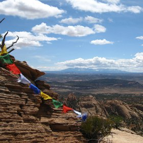 Prayer flags in the Wild West