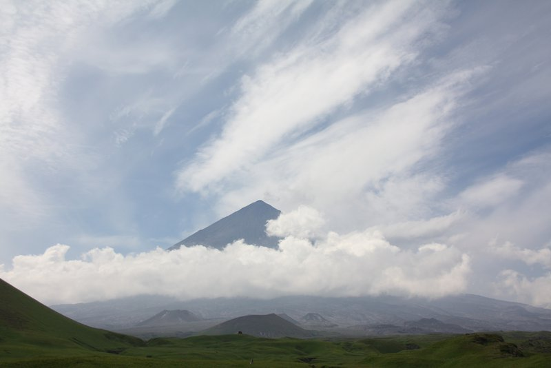 The first meeting with the giant - the highest volcano of Eurasia