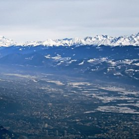 Grenoble with Mont Blanc and French Alpes