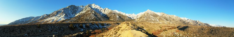 Owen's Valley and Mt. Whitney at Sunrise.