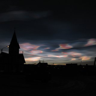 Nacreous clouds in Husavik