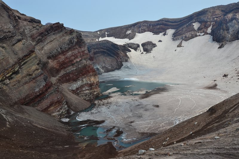 crater of the volcano Gorely, Kamchatka