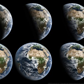 The Waxing Earth from a Geostationary Perspective