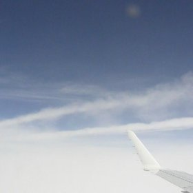 Flying almost through a cirrus cloud