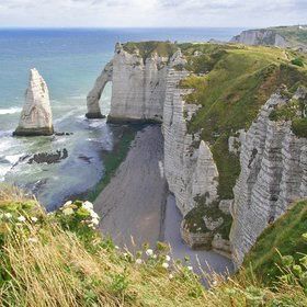 The chalk cliffs of Etretat