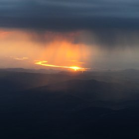 Golden Danube and virga