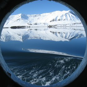 Arctic through a porthole