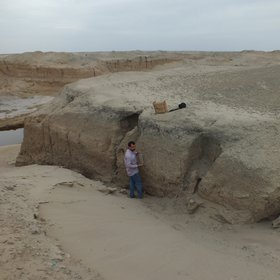 Soil Section in the Mesopotamian floodplain-Iraq