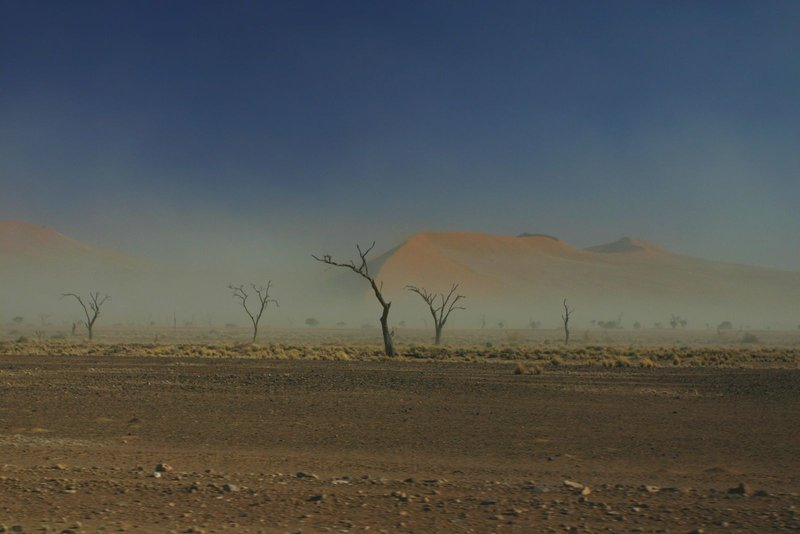 Dust in Sossusvlei, Nambia