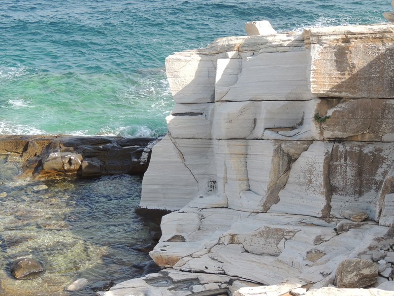 Marble outcrops
