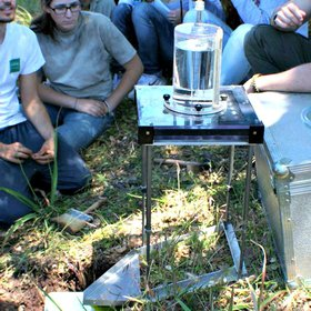 Rainfall simulation in the field