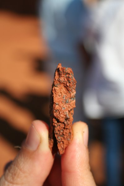 Manganese black spots in red soil