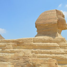 Sphinx as a huge limestone rock