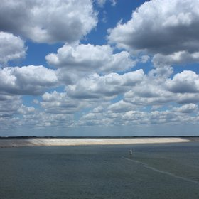 Cumulus humilis clouds over Hillsborough, Florida (the C.W. Bill Young Regional Reservoir)