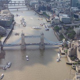 London Bridge from the air