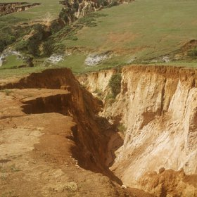 Gully erosion in Swaziland