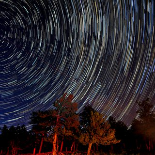 Star Trails in Rocky Mountain National Park