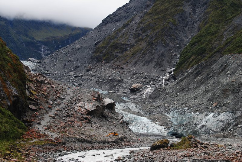 What remains of a glacier