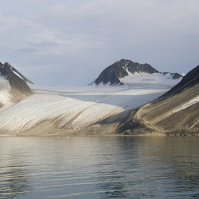 Glacier in Spitzbergen, Svalbard, Norway.