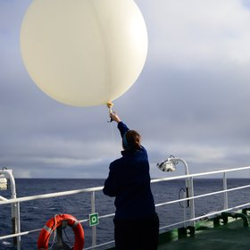 Fly away, weather balloon!