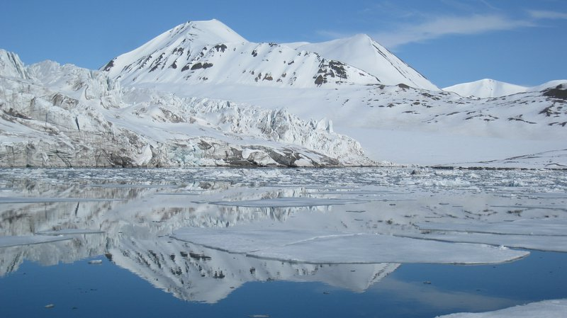 Water reflection in Svalbard