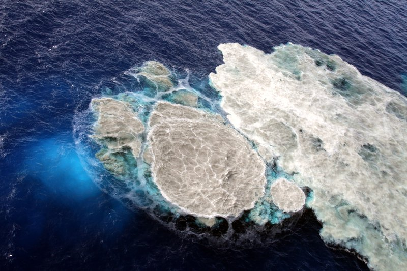 Sea water discolored by El Hierro submarine eruption