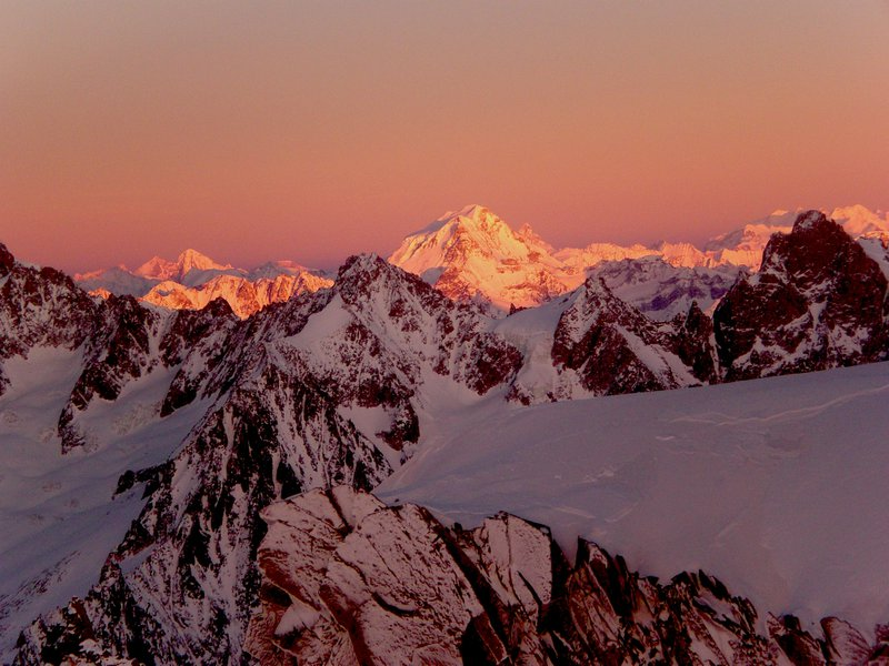 Red from Mont Blanc