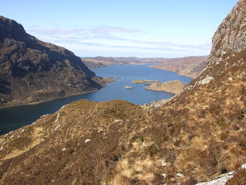 Loch Glean Dubh from the Stack of Glencoul