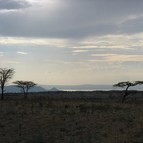 Evening view of Central Rift Valley lakes, Ethiopia