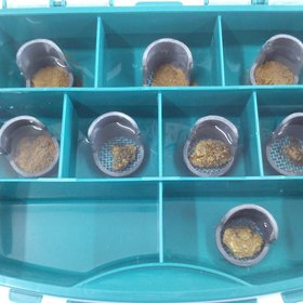 Set of hand-made micro-sieves for testing soil stability to slaking