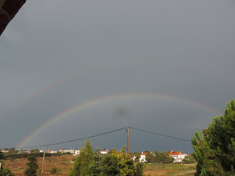 Double rainbow with Alexander's band