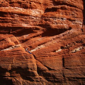 Red triassic sandstone (Orcombe Rocks, East Devon)
