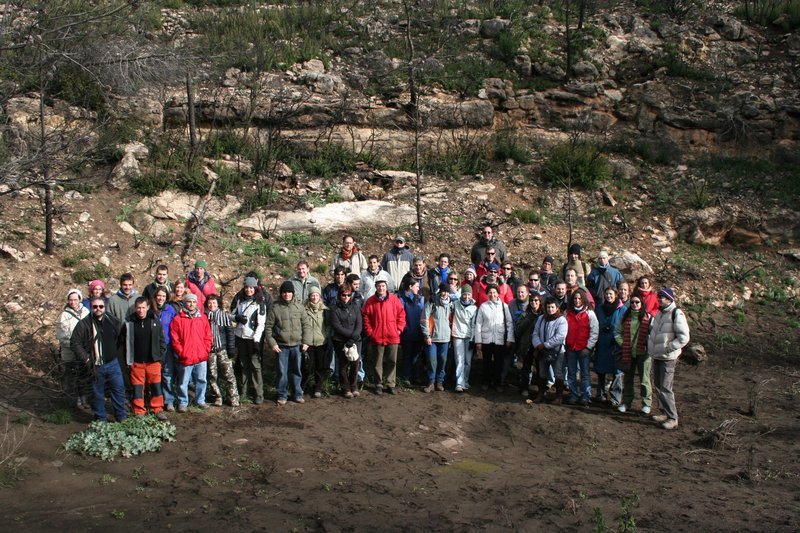 Participants in the FUEGORED2008 meeting, Enguera, Spain